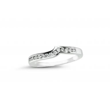 Glacier Fire Canadian Diamond 0.15CTW Wedding Band