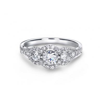 Glacier Fire Canadian Diamond 0.75CTW Bridal Ring