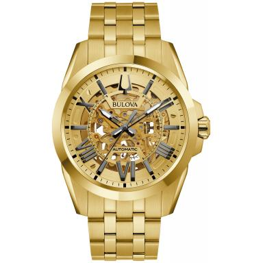 Bulova Men's Sutton Automatic Gold Tone Watch