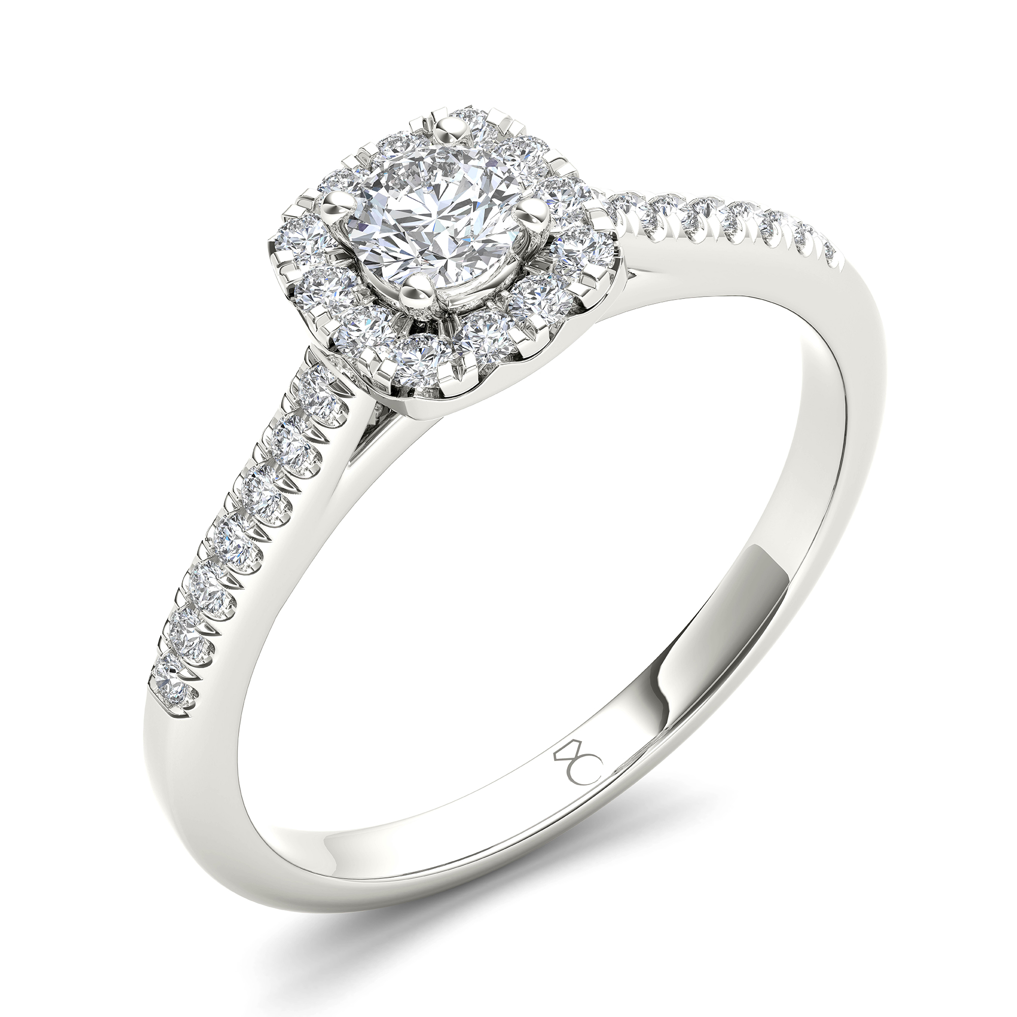 14k White Gold My Diamond Story Bridal Ring 0 40ctw Ben Moss Jewellers